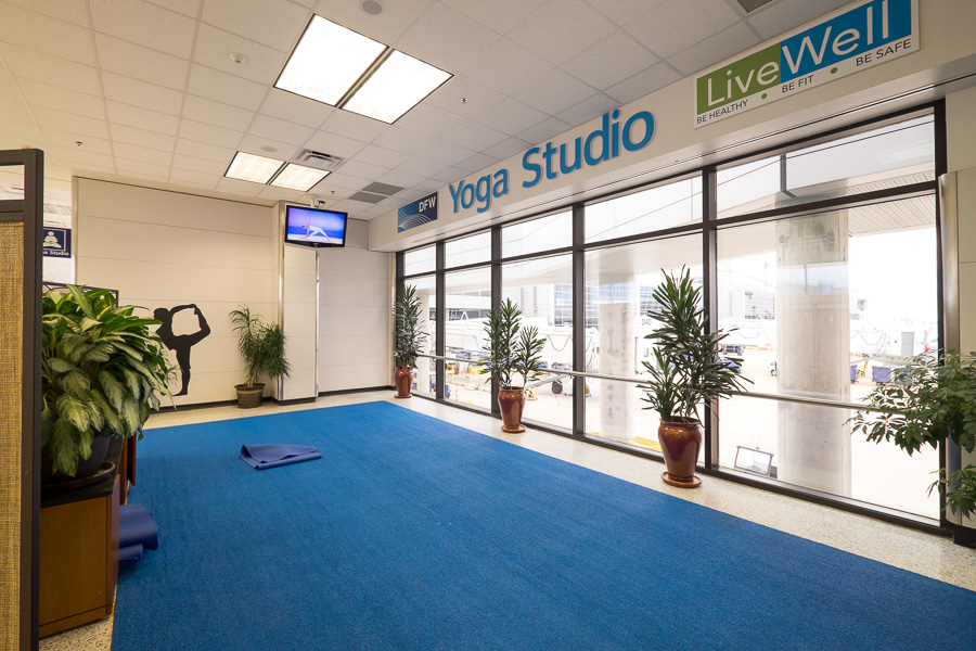Yoga Studio at DFW airport