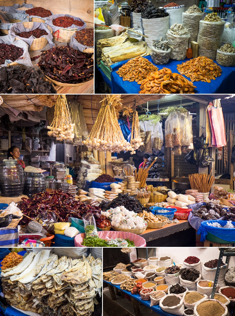 antigua market - dried food