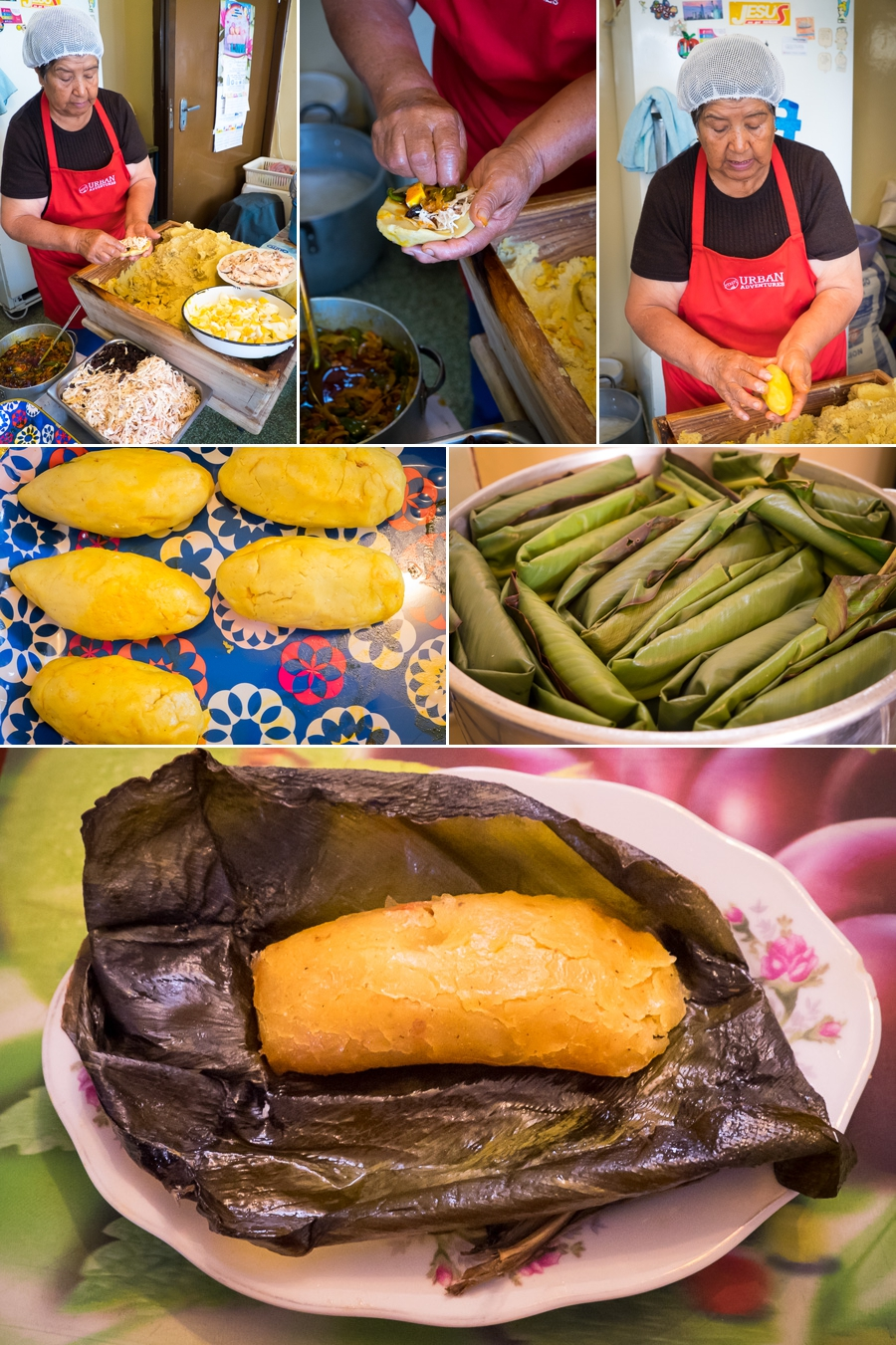 Making Tamales on the Quito Culinary Tour