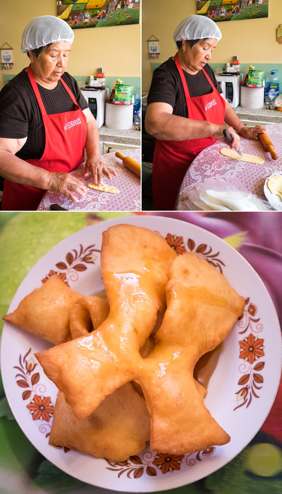 Making Pristinos on the Quito Culinary Tour
