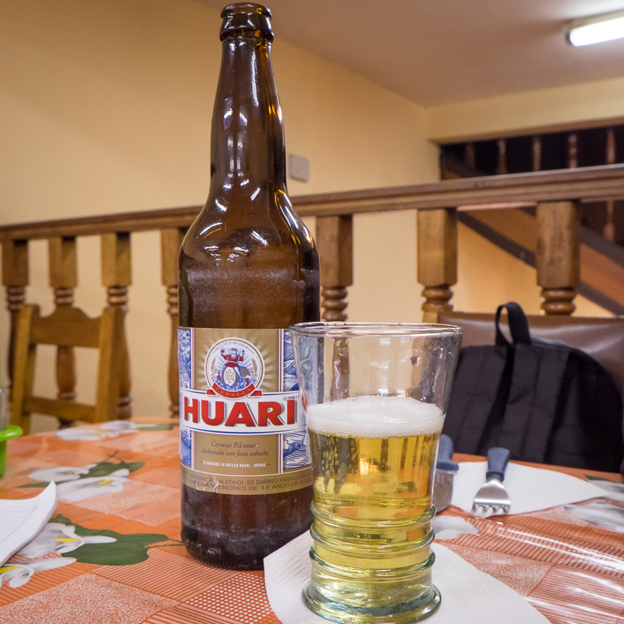 Huari Beer - best in Bolivia apparently
