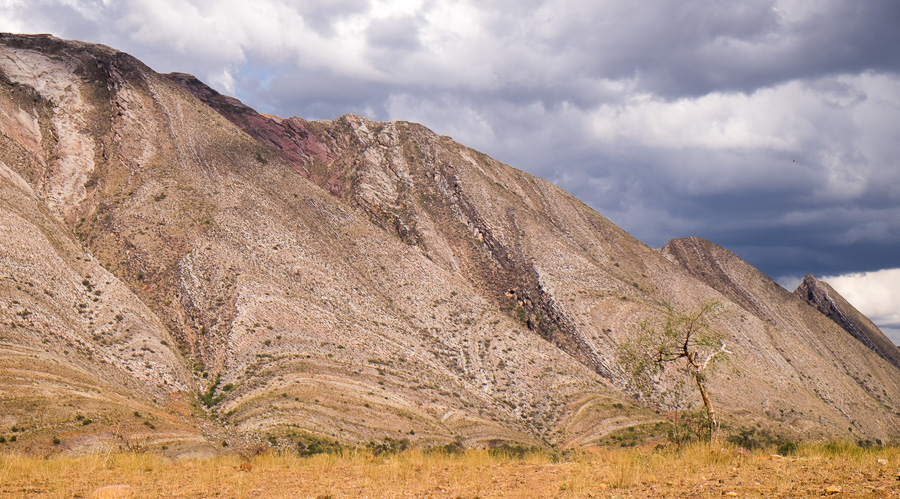 Folded and tilted strata - Toro Toro National Park - Bolivia