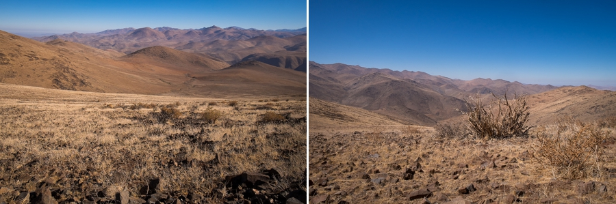 Views along the way to Cerro Vizcachas - La Silla Observatory - Chile