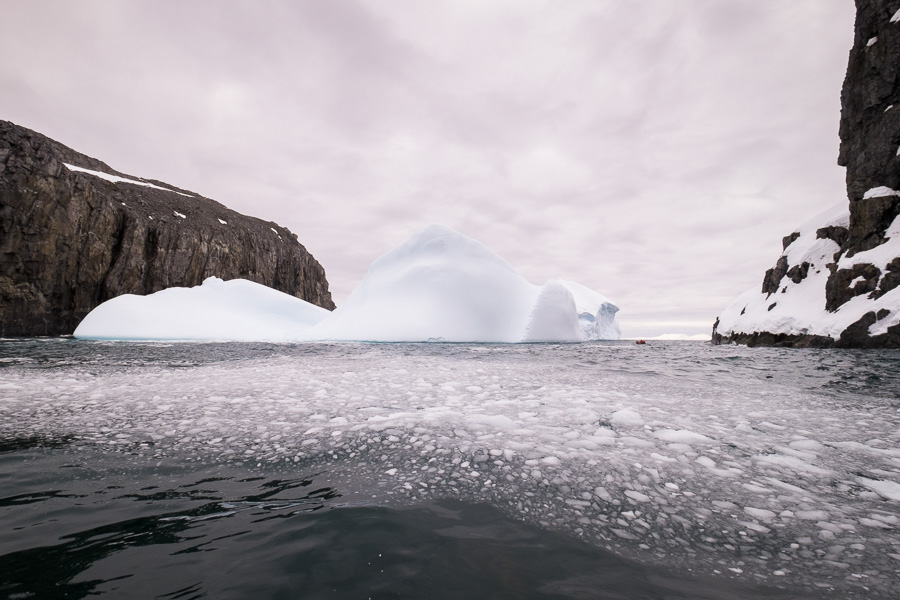 Huge Icebergs - Spert Island - Antarctic Peninsula