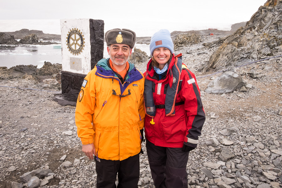 Me and the commander - Esperanza Station - Antarctic Peninsula