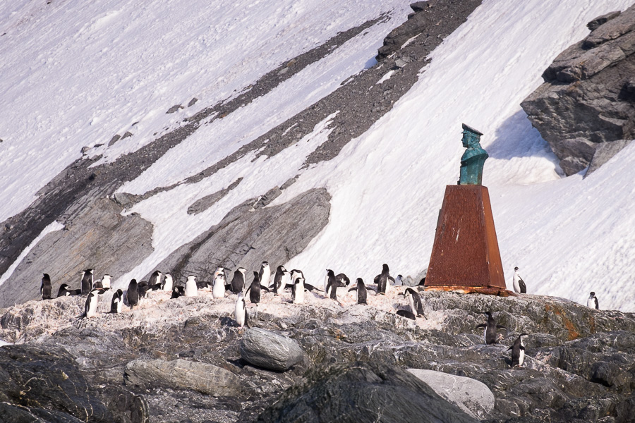 Monument at Point Wild - South Shetland Islands - Antarctica