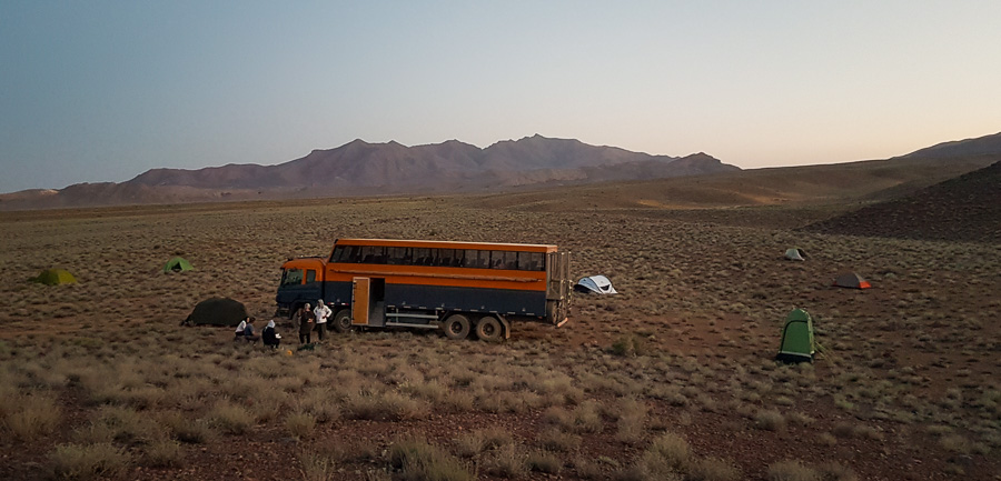 camping in the desert of Iran