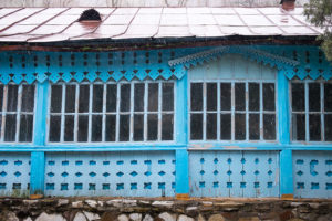 blue windows - Kyrgyzstan