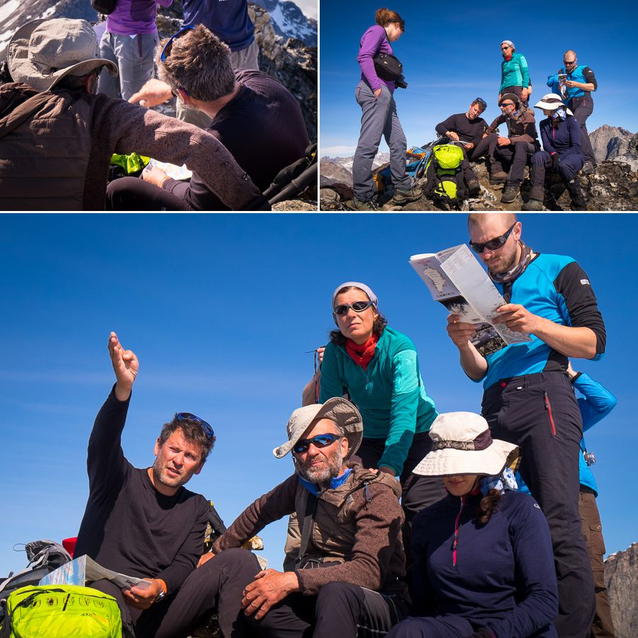 Maxime showing us peaks - Unplugged Wilderness - East Greenland