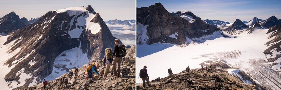 From the summit Day 10/11 - Unplugged Wilderness - East Greenland