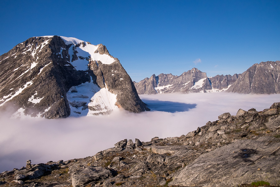 Tasilap Kua Valley blanketed in cloud - Unplugged Wilderness - East Greenland
