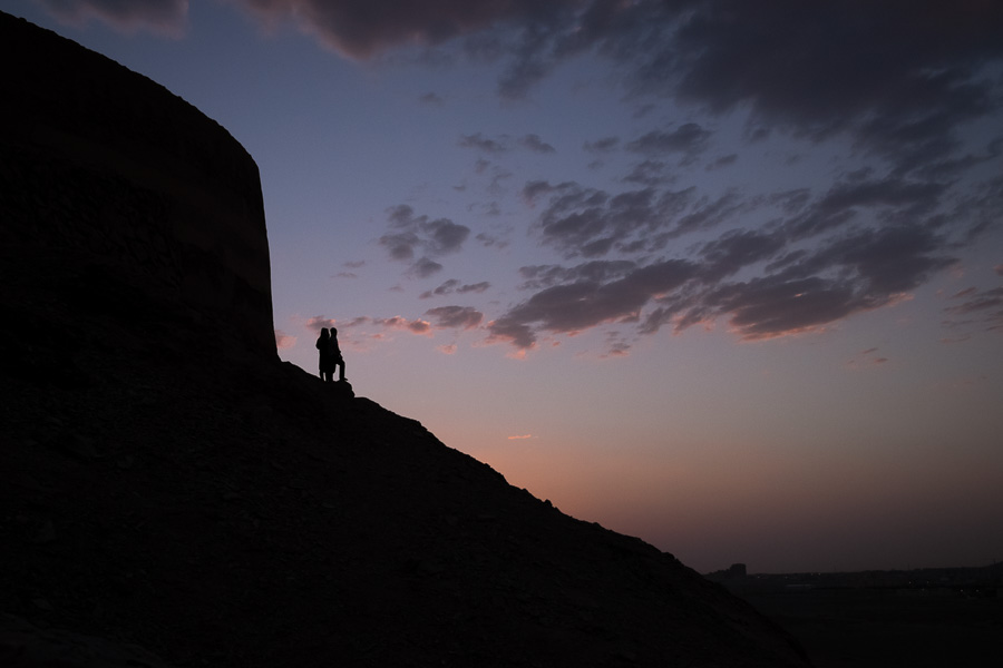 Sunset - Zoroastrian Towers of Silence - Yazd - Iran