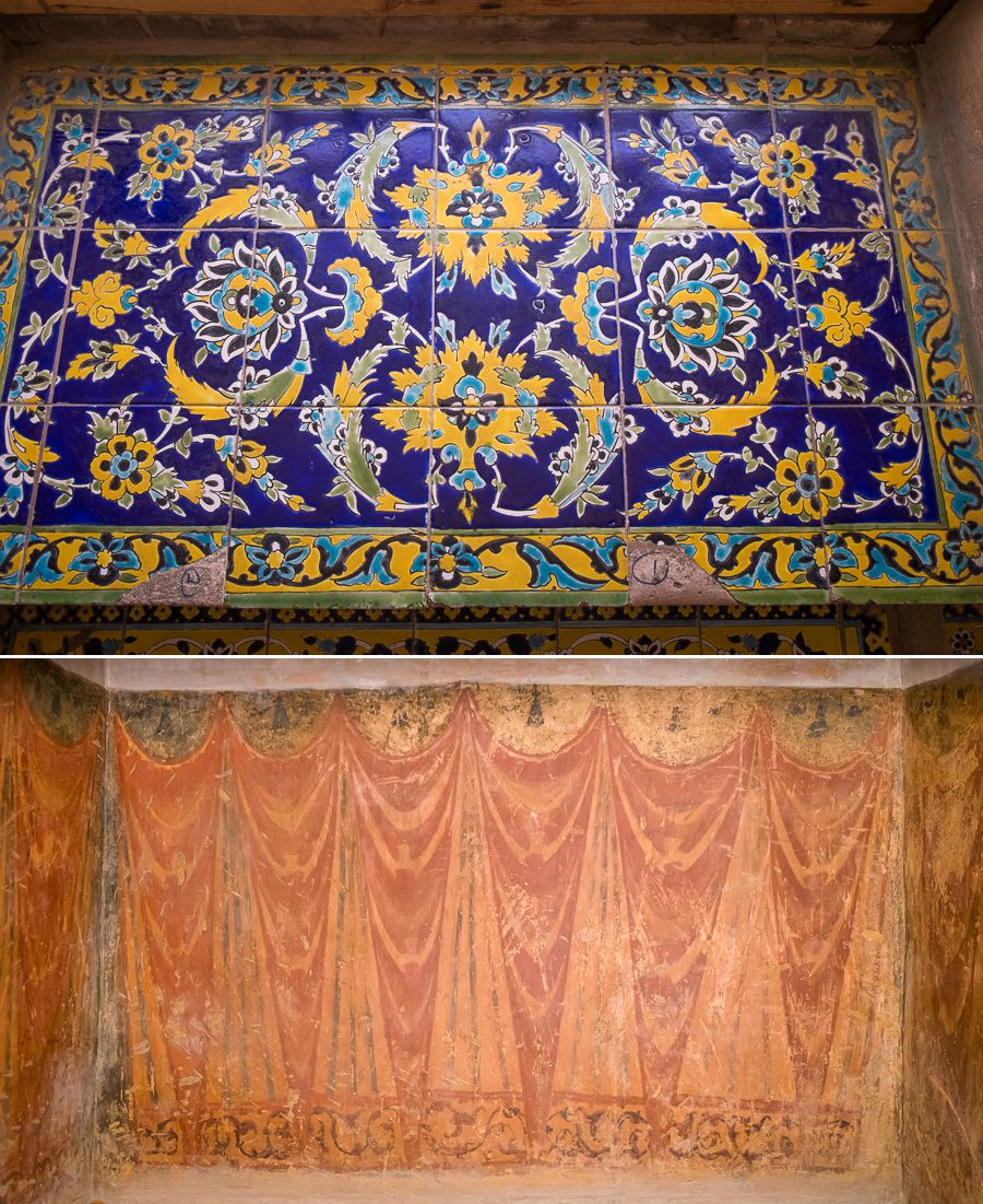 Tiles and decoration - Ali Qapu Palace - Esfahan - Iran