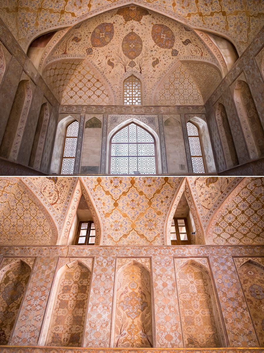 Decoration - Ali Qapu Palace - Esfahan - Iran