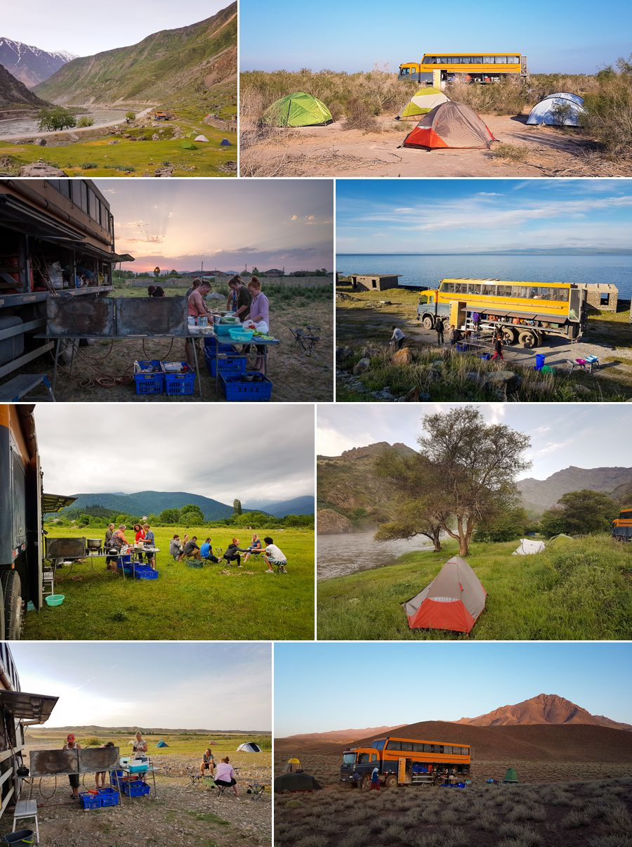 Campsites along the Silk Road