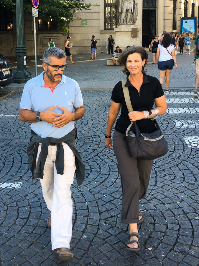 Out and about in Porto with Raúl - arm still wrapped up from tattoo
