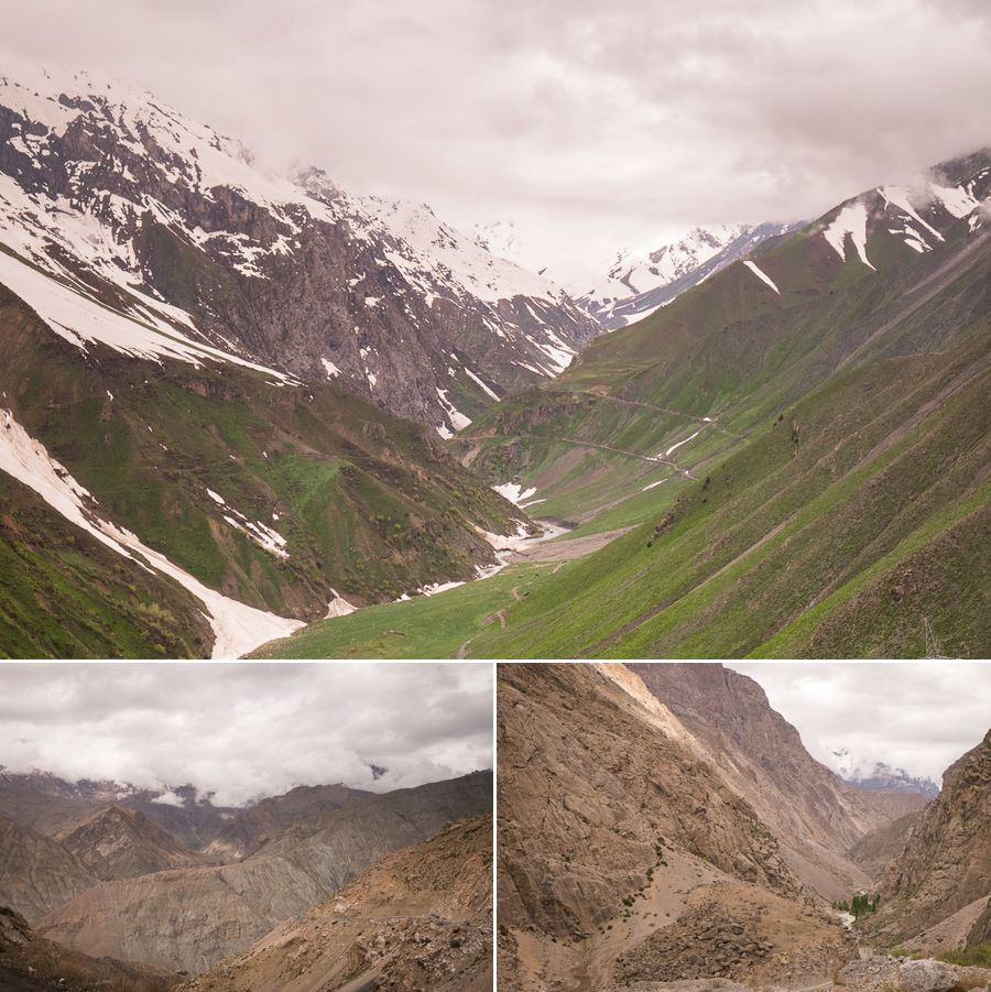 Spectacular scenery heading north from Dushanbe