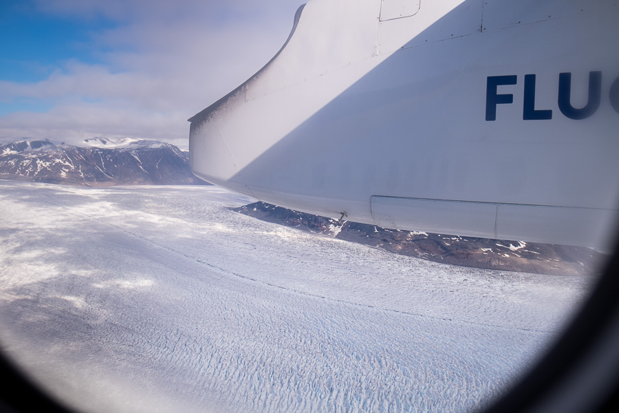 Approach to Narsarsuaq Airport - South Greenland