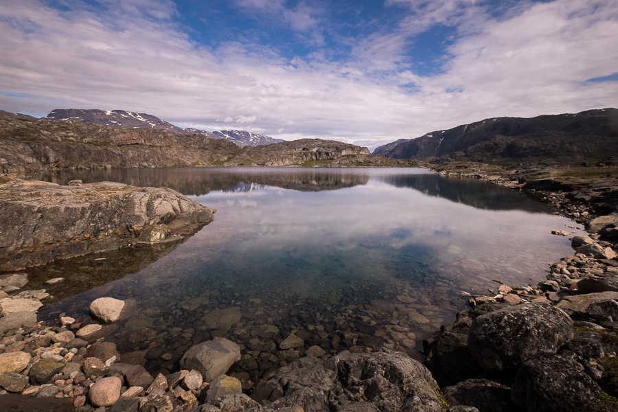 One of the many beautiful lakes you pass on the Narsarsuaq Glacier hike on the way to the viewpoint - South Greenland