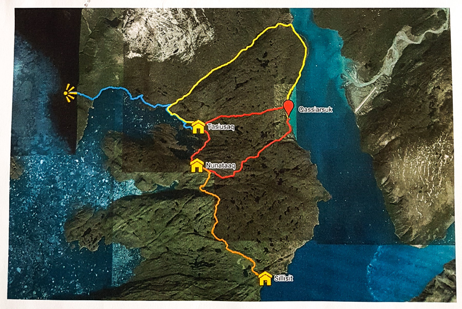 Hiking routes around Qassiarsuk - South Greenland