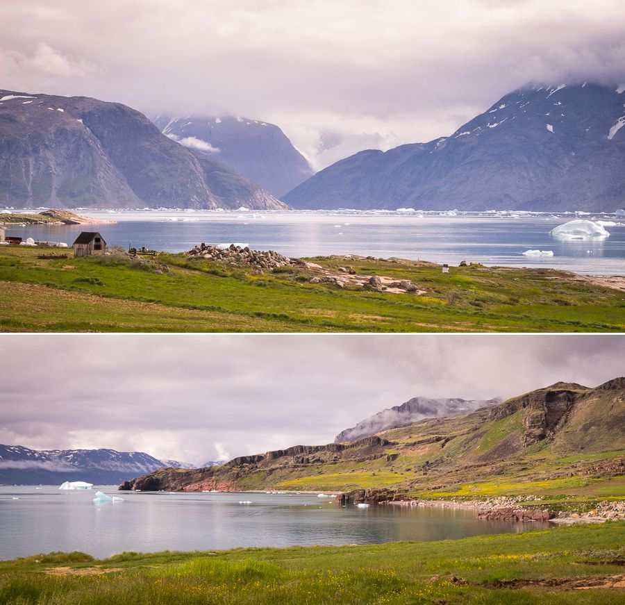 View from Silisit Hostel - South Greenland