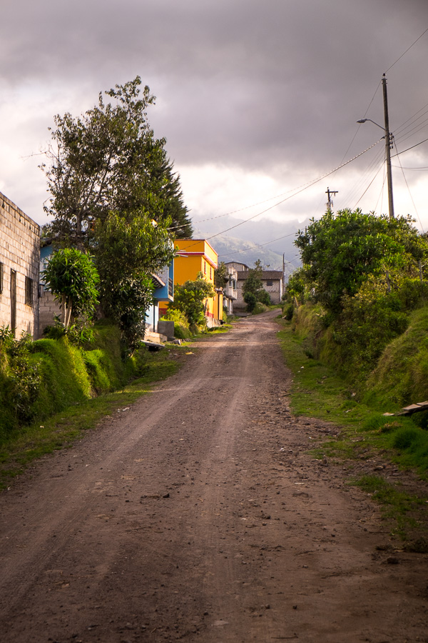 We were hiking on semi-rural roads to get from Cascada de Peguche to Parque Condor near Otavalo, Ecuador
