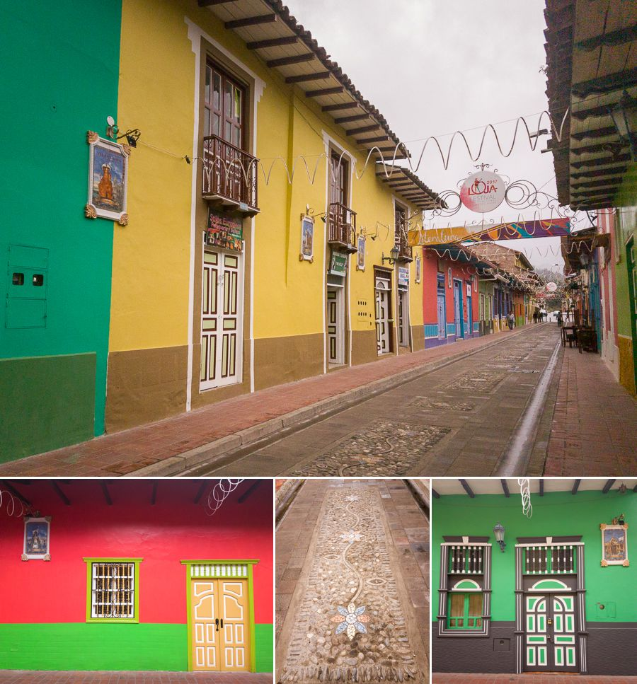 Beautiful colourful architecture that has been restored in Loja - Ecuador