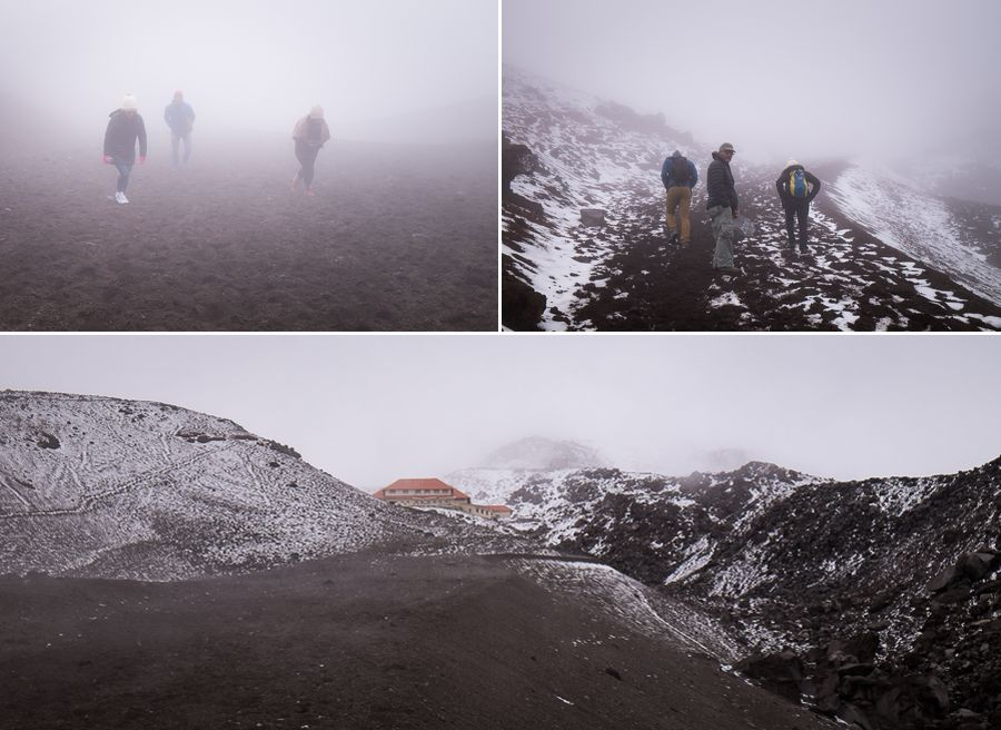 Views of our hike up to the refugio on our day-trip to Volcán Cotopaxi in Ecuador
