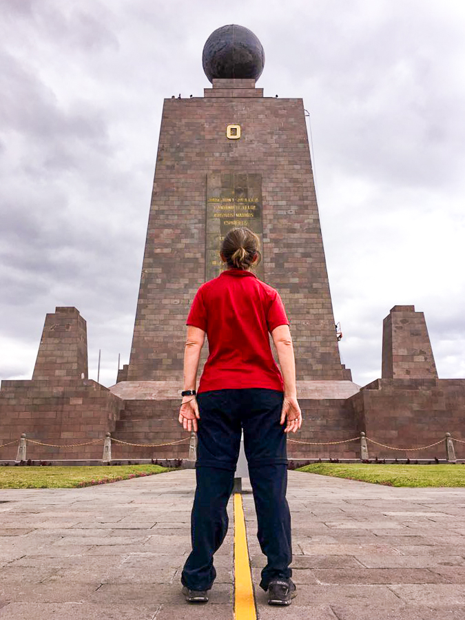 me at the Mitad del Mundo - Quito - Ecuador