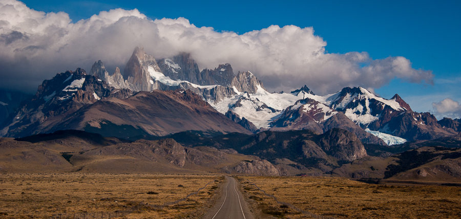 Approaching El Chaltén and the Fitzroy massif