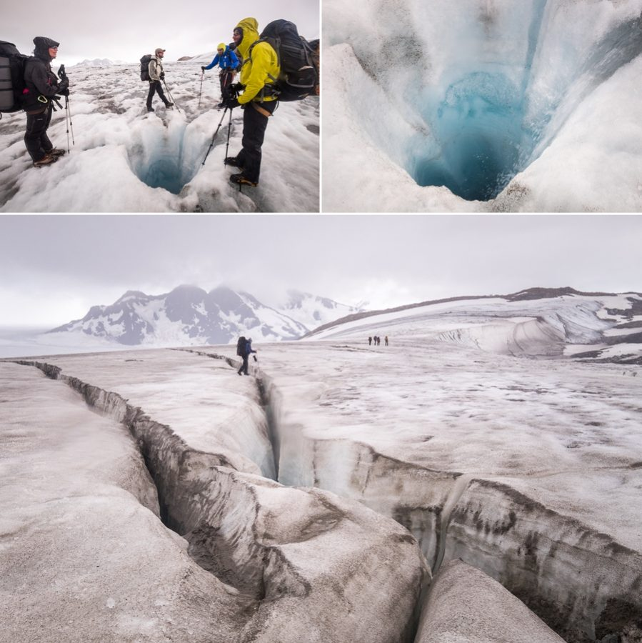 Crevasses and a moulin - South Patagonia Icefield Expedition - Argentina