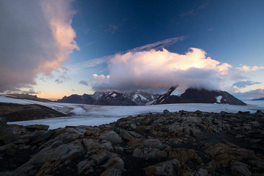 Sunset from the Refugio Garcia Soto - - South Patagonia Icefield Expedition - Argentina